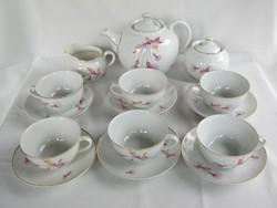 Hollóházi porcelán 6 személyes teáskészlet