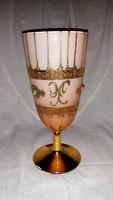 Gyönyörű  antik  talpas  váza