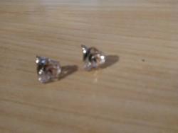 Szív kristály fülbevaló új