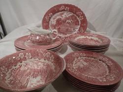 Étkészlet - Royal Tudor Ware - HIÁNYTALAN - Angol - 21 db - nagy tányérok - rendkívül szép állapot