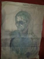 Nagy alakú, absztrakt portré