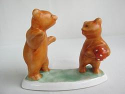 Bodrogkeresztúri kerámia maci labdázó medvebocsok