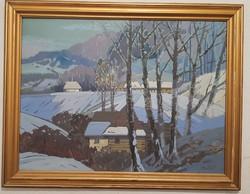 Márton Béla (1913-2016) Téli táj