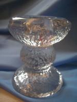 Art deco,vastag üveg gyertya tartó hibátlanul eladó