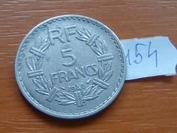 FRANCIA 5 FRANCS FRANK 1946 ALU. 154.