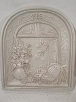 Kerámia - falikép 1986 - JASBA - Német - 1984 - 25,5 x 23 x 3 cm - hibátlan