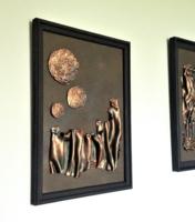 Absztrakt fali plasztika/relief