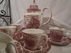Kávéskészlet - Angol - OLDE COUNTRY CASTLES - 11 db 2 csésze - 2 csészealj hiányzik