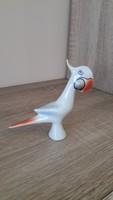 Hollóházi porcelán art deco kakadu.
