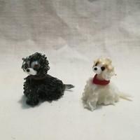 Miniatűr üveg kutyák