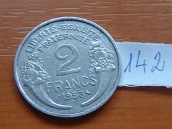 FRANCIA 2 FRANCS FRANK 1958 ALU. 142.