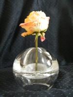 Különleges, muránói jellegű vastag üvegváza