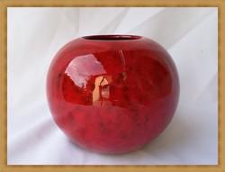 Német kézműves kerámia gömb váza