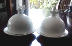 Kis kaviár vagy fűszervaj tartó porcelán búra/ db