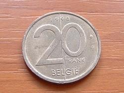BELGIUM BELGIE 20 FRANK 1998  #