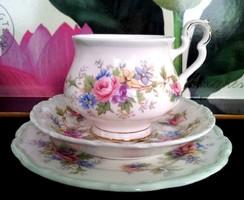 Kuriózum Extrém ritka!Antik Royal Albert Angol porcelán komplett álomszép  6szem.teás/kávés/sütemény