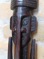 Faragott thaiföldi fali maszk 58 cm