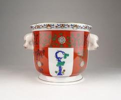 0U653 Gödöllő mintás Herendi porcelán kaspó