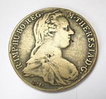 Mária Terézia ezüst tallér 1780 S.F,korábbi veret!