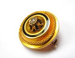 Csodás antik arany kitűző gyémánttal!