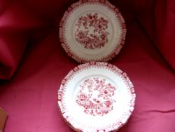 Seltmann Weiden china rot 6 süteményes tányér