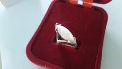 Gyöngyházas ezüst gyűrű