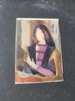 Miniatűr akvarell portré