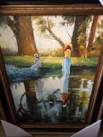 Monet style impresszionista festmény