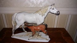 Herendi ritka nagy ló,csikójával