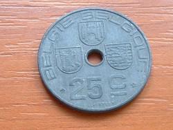 BELGIUM BELGIE - BELGIQUE 25 CENTIMES 1943 WW II CINK #
