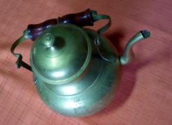 Teafőző és kiöntő réz