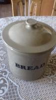 Angol keramia kenyer tároló  23 x 25 cm fedele nélkül