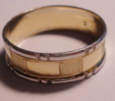 Férfi 14 k-os karikagyűrű/EXTRA MÉRET 72/