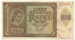 1000 kuna 1941 Horvátország