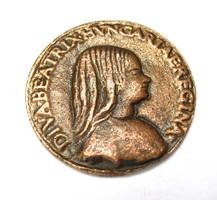 A 'Beatrix érme' egyetlen, Nemzeti múzeumi példányáról készült másolat