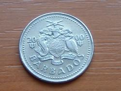 BARBADOS 25 CENT 2000  SZÉLMALOM #