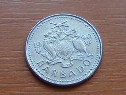 BARBADOS 25 CENT 1990  SZÉLMALOM #