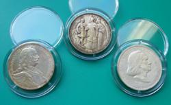 Pázmány sor - Magyar Királyság - 3 X 2 pengő, ezüst - patinával
