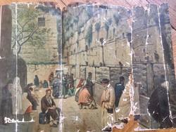 Nagyon régi a siratofalat ábrázoló litográfia