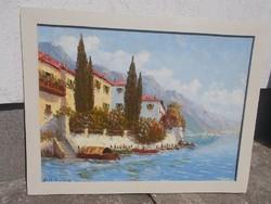 Ismeretlen festő csodálatos képe olajkép festmény