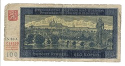 100 korun 1940 Cseh Morva Protektorátus 2.