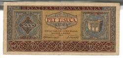 5000 kuna 1943 Horvátország 2.