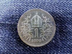 Szép ezüst 1 Corona 1899/id 9144/