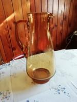 Óriási méretű borostyán színű üveg kancsó