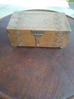 Jugend style wmf bronz ékszertartó vagy szivardoboz. doboz.