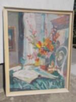 Ismeretlen festő szignózott, csodálatos képe, olajkép festmény