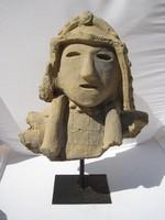Terracotta szamuráj fej