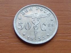 BELGIUM BELGIQUE 50 CENTIMES 1933 BON POUR #