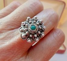 Szépséges antik türkizes ezüstgyűrű