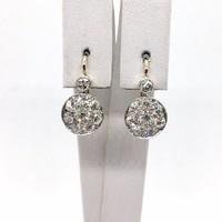1155. Art Deco Fülbevaló Gyémántokkal